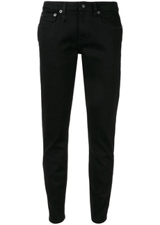 R13 tapered low-rise jeans