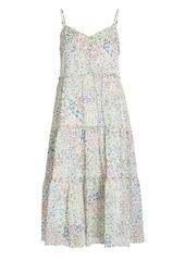 R13 Tiered Floral Chiffon Dress