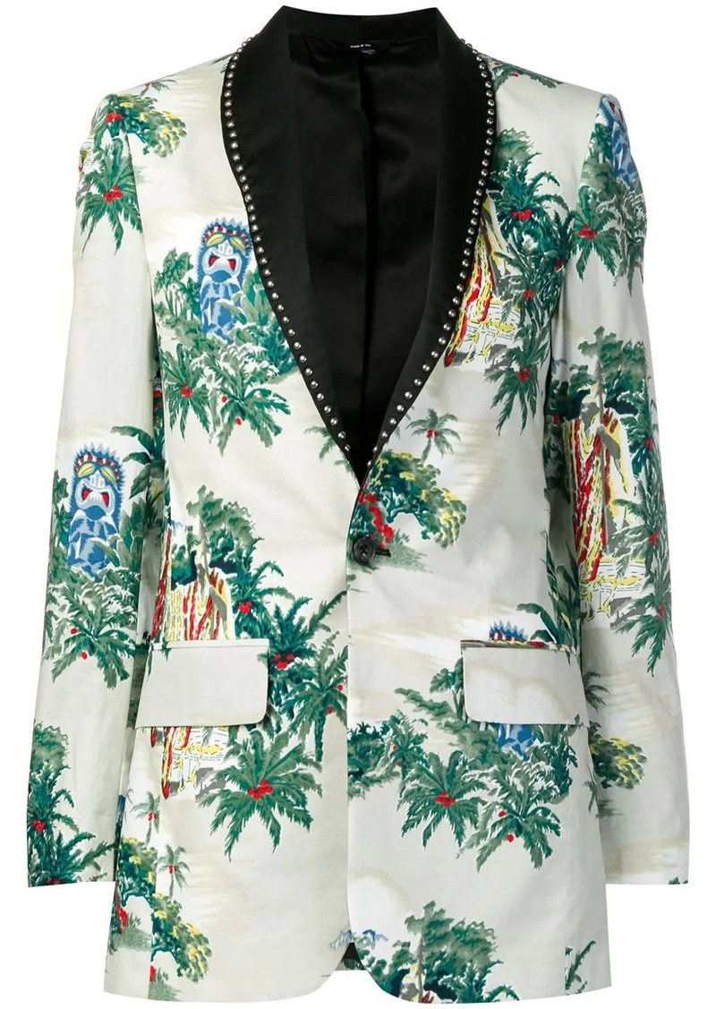 R13 tropical pattern blazer