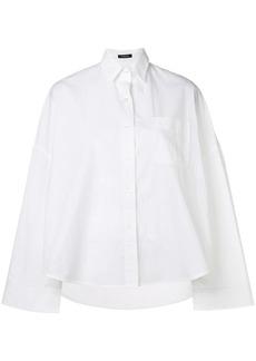 R13 wide sleeve high low shirt