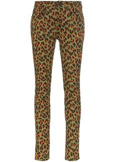 R13 x Alison Mosshart high-rise leopard-print skinny jeans