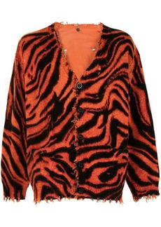 R13 zebra-print button-up cardigan