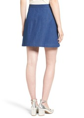 Rachel Antonoff 'Charlie' Colorblock Denim Miniskirt