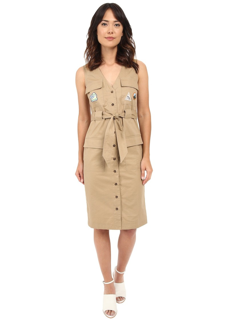 Rachel Antonoff Hammy V-Neck Cargo Dress with Patches