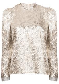 Rachel Comey crinkle metallic blouse