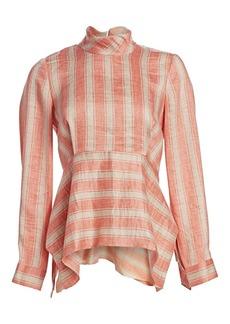 Rachel Comey Cultivate Striped Linen-Blend Blouse