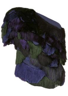 Rachel Comey fringed one-shoulder blouse