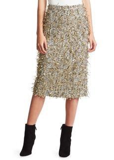 Rachel Comey Hanabi Jacquard Aqualine A-Line Skirt