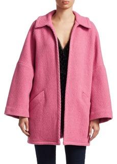 Rachel Comey Husk Open Front Chevron Wool Coat