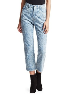 Rachel Comey Norm Zebra High-Rise Cropped Jeans
