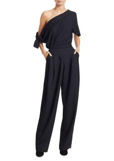 Rachel Comey Pout Off-The-Shoulder Asymmetric Jumpsuit