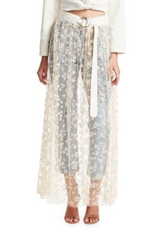 Rachel Comey Puff Tulle Fetes Floral Overlay Skirt