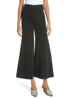 Rachel Comey Absolute Herringbone Weave Wide Leg Pants