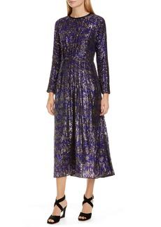 Rachel Comey Astraea Sequin Long Sleeve Midi Dress