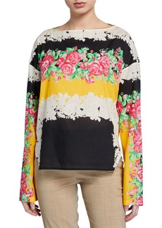Rachel Comey Barter Floral Long-Sleeve Top