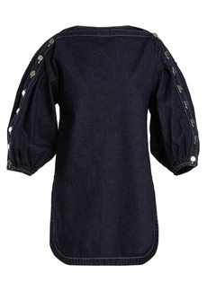 Rachel Comey Billow slash-neck denim top