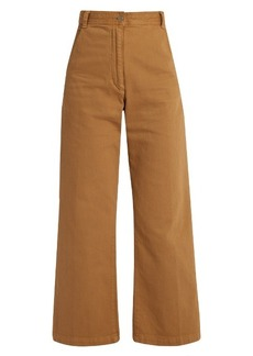 Rachel Comey Bishop high-rise wide-leg cotton-blend trousers