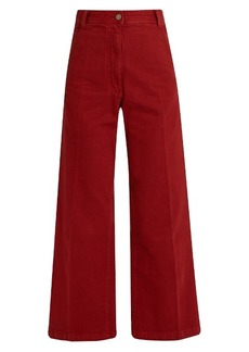 Rachel Comey Bishop high-rise wide-leg cotton trousers