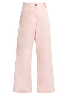 Rachel Comey Bishop high-rise wide-leg cotton trousers