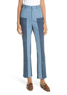 Rachel Comey Bismark Two-Tone Denim Pants