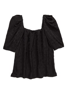 Rachel Comey Capa Floral Puff Sleeve Top
