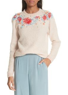 Rachel Comey Capture Embellished Alpaca & Merino Wool Blend Sweater