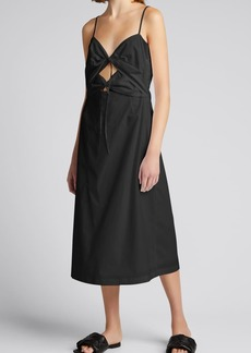 Rachel Comey Chernist Tie-Front Poplin Dress