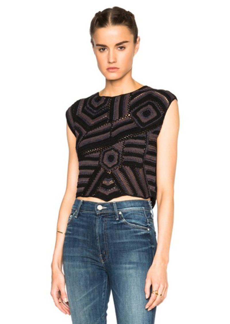 Rachel Comey Crochet Shell Top