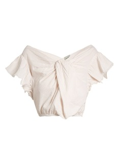 Rachel Comey Crush cotton-seersucker cropped top