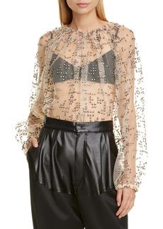 Rachel Comey Decadent Embellished Top