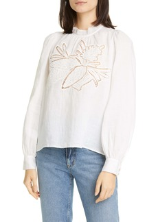 Rachel Comey Embroidery Long Sleeve Top