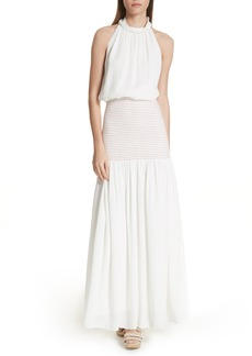 Rachel Comey Festa Smocked Panel Maxi Dress