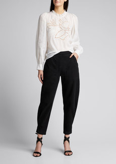 Rachel Comey Fir Pine Cone Embroidered Top