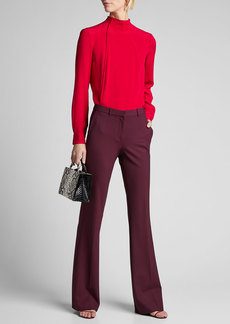 Rachel Comey Fixture Button-Back Silk Top