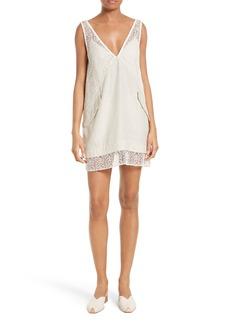Rachel Comey Flame Lace & Linen Dress