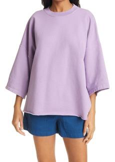 Rachel Comey Fondly Batwing Sleeve Cotton Blend Sweatshirt