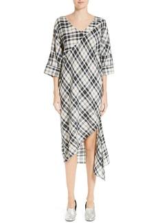 Rachel Comey Grateful Plaid Cotton Shift Dress