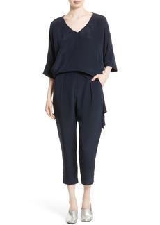 Rachel Comey Grateful Silk Crepe Jumpsuit
