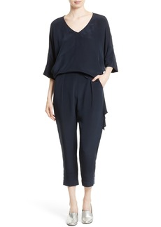 Rachel Comey Grateful Silk Crepe Jumpsuit