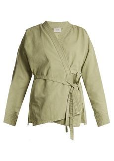 Rachel Comey Hugh long-sleeved cotton-twill wrap jacket