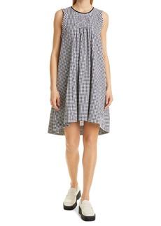 Rachel Comey Jib Gingham Seersucker High/Low Dress
