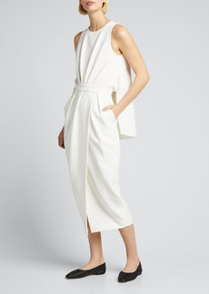 Rachel Comey Klein Cape-Back Sleeveless Wrap Dress