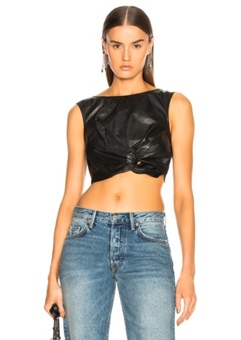 Rachel Comey Leather Argento Top