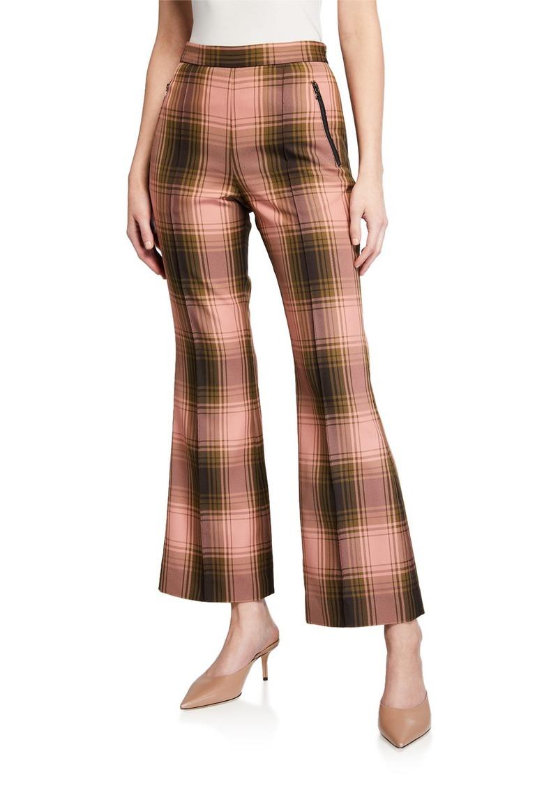 Rachel Comey Luca Plaid Flare Pants