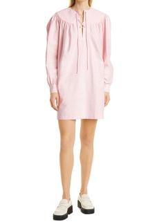 Rachel Comey Maquette Lace-Up Long Sleeve Minidress