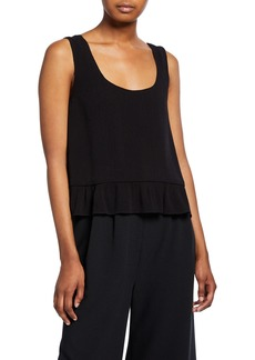Rachel Comey Marquette Scoop-Neck Flounce Top