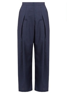 Rachel Comey Nova hound's-tooth wool wide-leg trousers