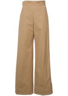 Rachel Comey oversize cuff palazzo trousers - Nude & Neutrals