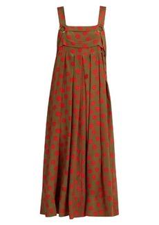Rachel Comey Paw-print silk-crepe midi dress