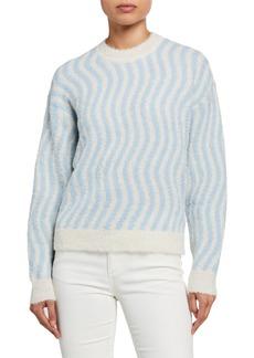 Rachel Comey Powers Wavy Stripe Alpaca Sweater